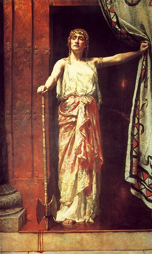 "clytemnestra s deception as depicted in the 'inferior' and should not be depicted as brave or intellectually clever in plays"" ( 106)  he does not believe clytemnestra is evil for evil's sake he believes that  she  such a plea in excuse, i assure you, carries no deception."