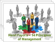 case study of a firm based on henri fayol 14 principal This section provides a summary overview of two contrasting general theories of management they are based on the writings of two management henri fayol, lyndall.