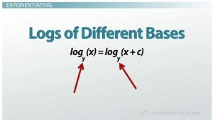 adding and subtracting logarithms with different bases in dating
