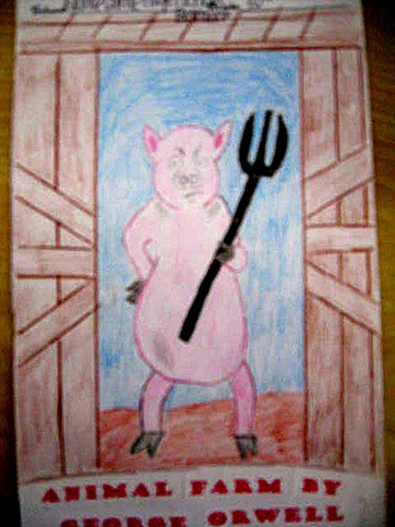 the pigs power in the story animal farm Animal farm by george orwell is a dystopian the pigs of the farm begin to establish a create a visual plot diagram of animal farm separate the story into.