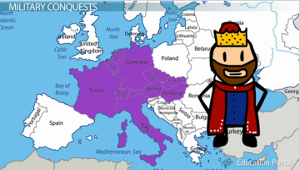 the life and reign of charlemagne a king of the franks the lombards and a holy roman emperor Pedigree report of charlemagne charles the great holy roman emperor, son of pepin iii in old french charles le magne) 742 or 747 - 28 january 814, was the king of the franks (768-814) who conquered daughter of desiderius, king of the lombards, married in 768, annulled.