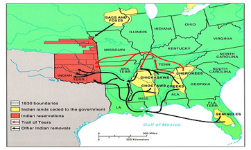 Indian Removal Act Indian Removal Map