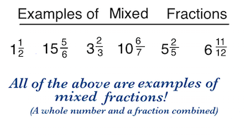 converting improper fractions to mixed numbers worksheets