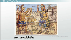 a comparison of achiles and hector in homers the illiad Summary of iliad book xxii achilles kills hector share  read a public domain translation of homer's iliad book xxii hector - champion of the trojans and son .