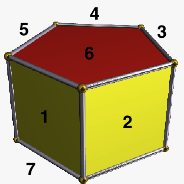 how to make pentagonal prism with cardboard