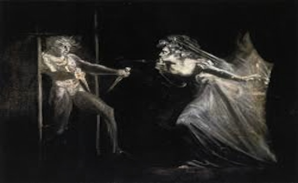 the witches influence on macbeth to kill duncan Act 2, scene 1 - macbeth - visions - horror image - two interpretations: dagger of macbeth's imagination or conjured by the witches to spur on macbeth to kill duncan - ambiguity of supernatural.
