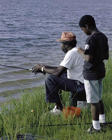 Somerset Lake Fishing Map