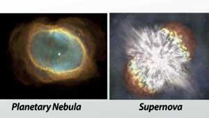 Planetary Nebula and Supernova