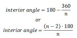 Exterior Angles Of A Polygon Formula Polygons Formula for