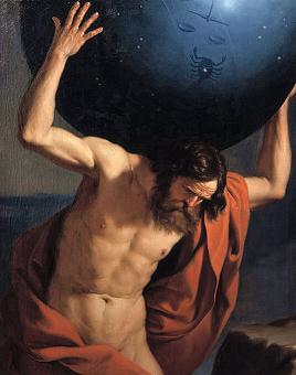 The Titan Atlas in Greek Mythology