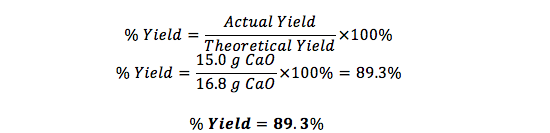 How to determine percent yield