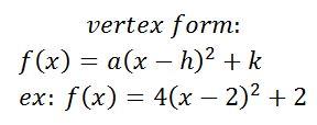 write in vertex form