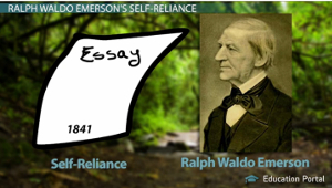 """an analysis of self reliance by emmerson Ralph waldo emerson was born on may 25, 1803,  """"faith in human potential, belief in self-reliant individualism, resolute optimism, moral idealism,."""