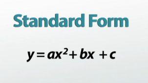 Standard Form Quadratic Formula for Pinterest