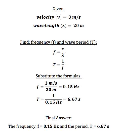 Wave Period Definition Formula Video Lesson